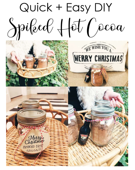 Quick + Easy DIY Spiked Hot Cocoa